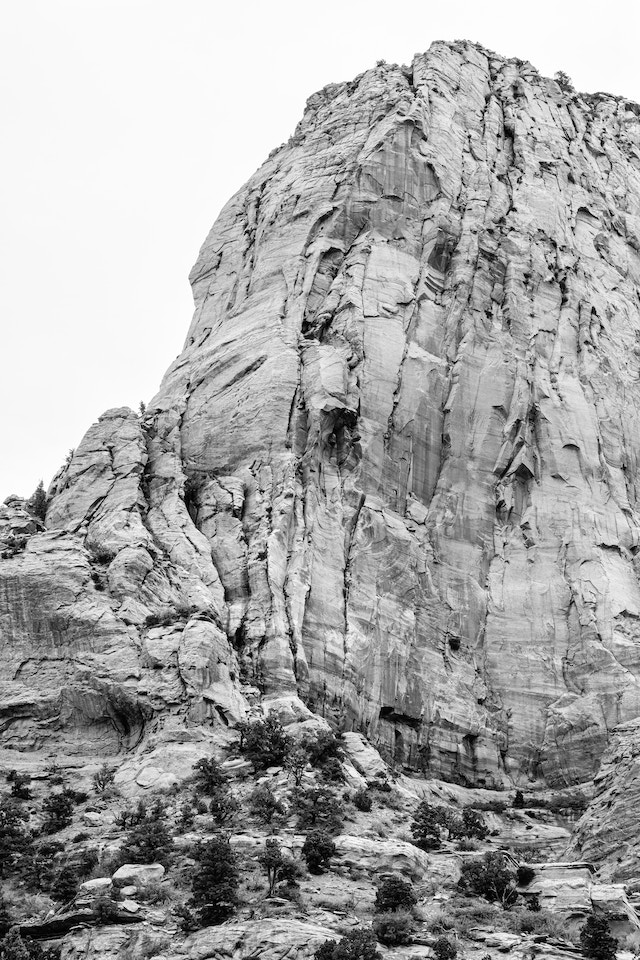 The craggy rock wall of Paria Point in Kolob Canyons.