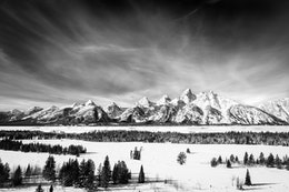 The Tetons, seen from the Teton Point Turnout.