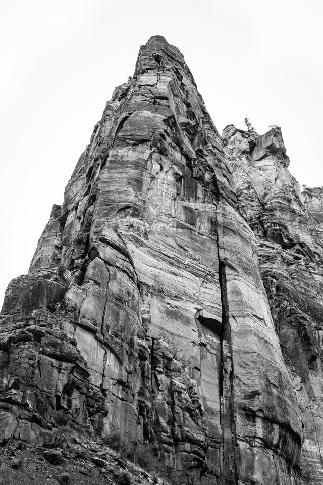 The tip of Touchstone Wall, seen from the Big Bend turnout.