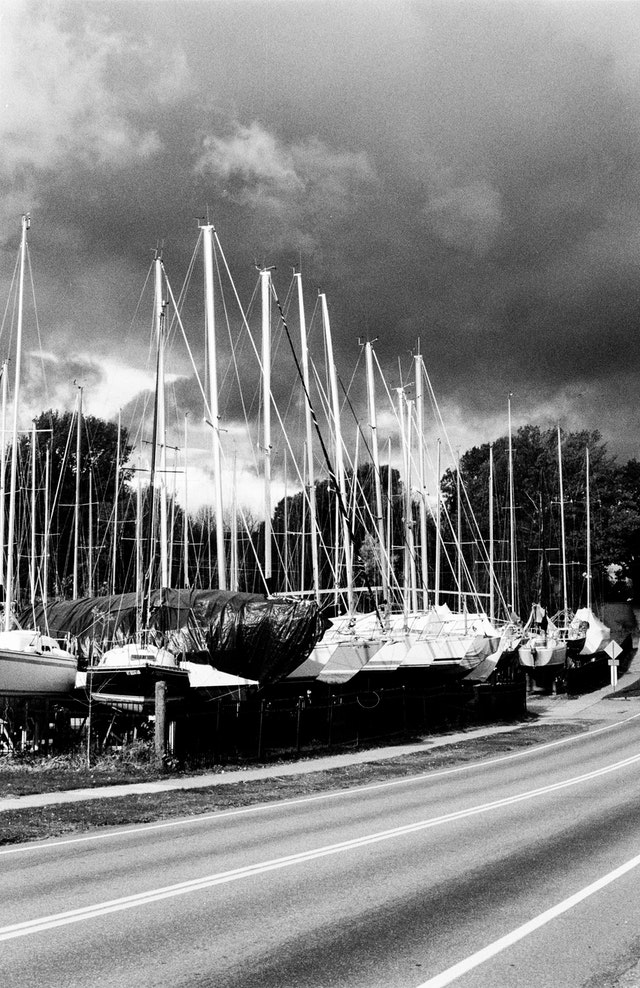 Sailboats in Colchester, Vermont.
