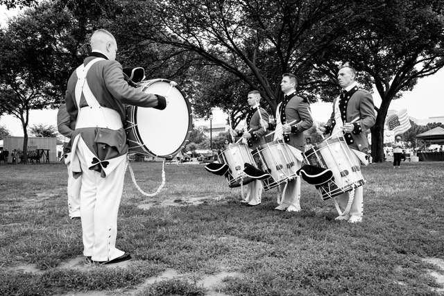 The US Army Old Guard Fife and Drum Corps.