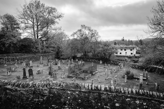 A graveyard in Callander, Scotland.