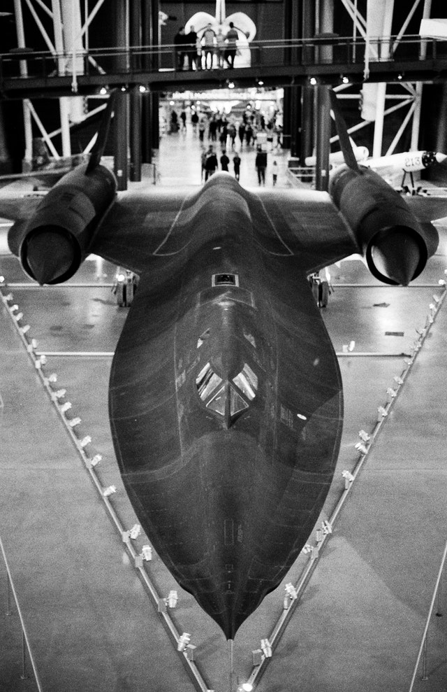 SR-71 Blackbird, at the National Air and Space Museum's Udvar-Hazy Center.