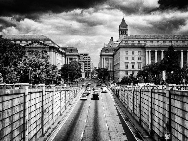 Looking over the 12th St NW tunnel.