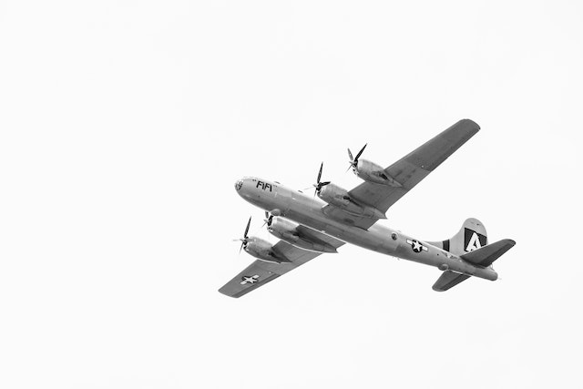 """Boeing B-29 Superfortress """"Fifi""""."""