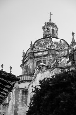 Dome of the Santa Prisca Temple in Taxco.