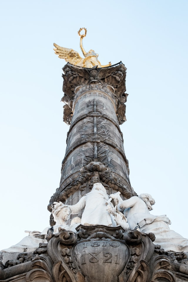 The Angel of Independence at the Paseo de la Reforma in Mexico City.
