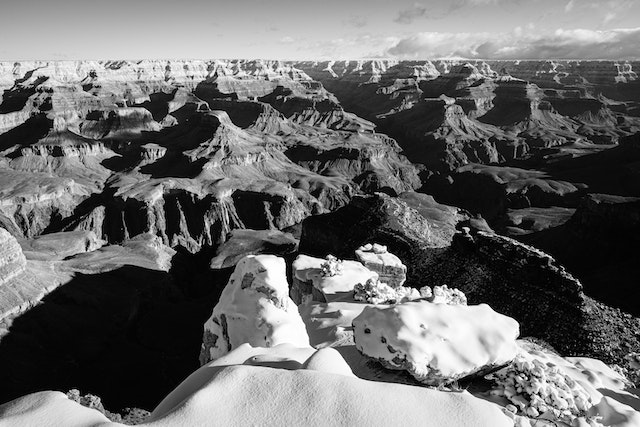 The North Rim of the Grand Canyon, seen from Maricopa Point.