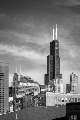 Sears Tower, seen from the West Loop.