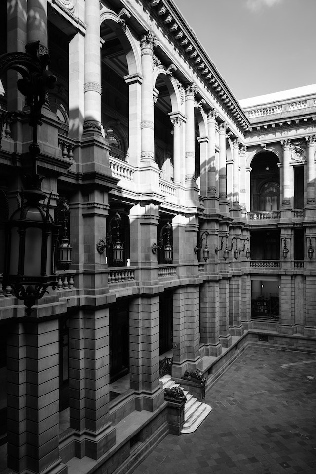 Interior courtyard of the National Museum of Art in Mexico City.
