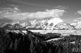 The view of the Tetons from the Snake River overlook at Grand Teton National Park.