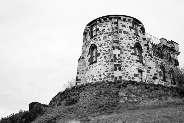 Gothic tower of the Edinburgh City Observatory.