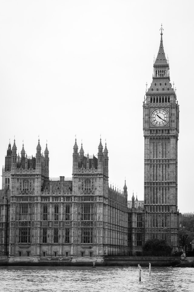 The Palace of Westminster, seen from across the Thames.
