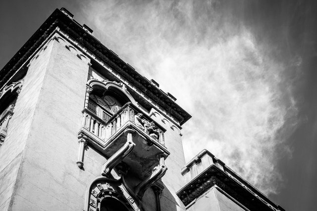 An old building in Condesa, Mexico City.