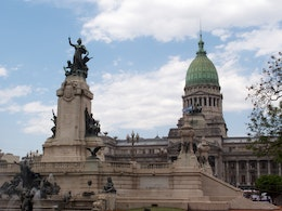The Monument to the Two Congresses, and the Argentine National Congress, Buenos Aires.