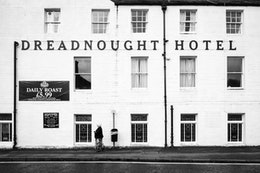 The facade of the Dreadnought Hotel in Callander, Scotland.