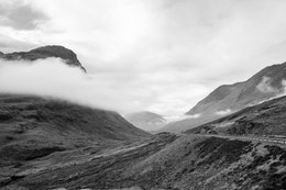 View of the Glen Coe landscape.