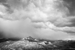 An approaching storm, seen from Glacier Point.
