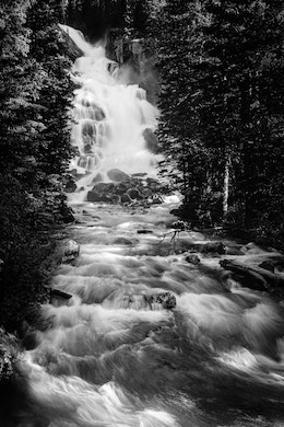 Hidden Falls and Cascade Creek, at Grand Teton National Park.