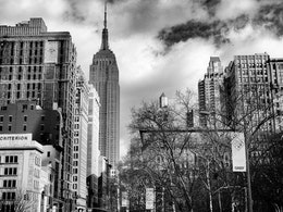 The Empire State Building, from Madison Square Park, New York City.