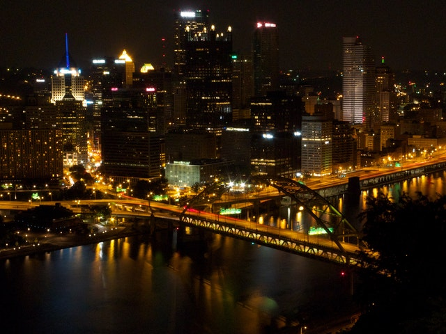 Pittsburgh, from the top of the Duquesne Incline.