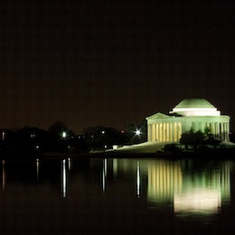 The Jefferson Memorial across the Tidal Basin, from the Martin Luther King, Jr. Memorial.