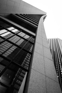 Looking up at the Chase Tower in Chicago.