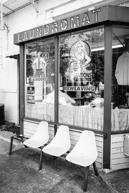 A laundromat at 11th & C streets in Capitol Hill.