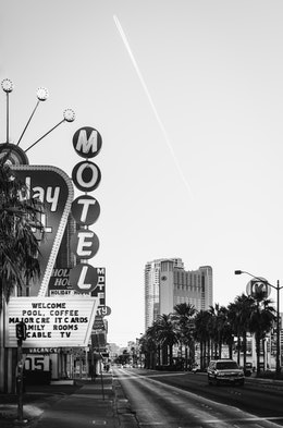 The Holiday Motel on Las Vegas Boulevard.