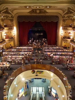 The inside of the Ateneo Grand Splendid bookshop in Buenos Aires, Argentina.