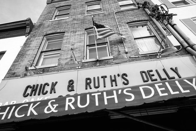 The facade of Chick & Ruth's Delly in Annapolis, Maryland.