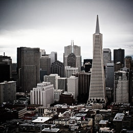 The Transamerica Pyramid, from Coit Tower.