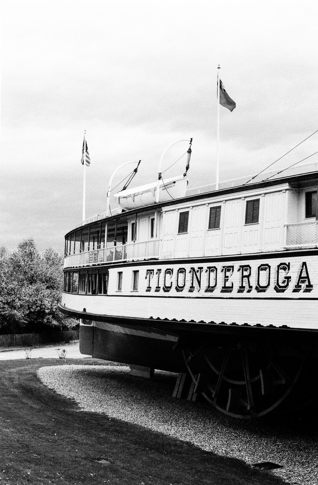 The steamship Ticonderoga at the Shelburne Museum, Vermont.