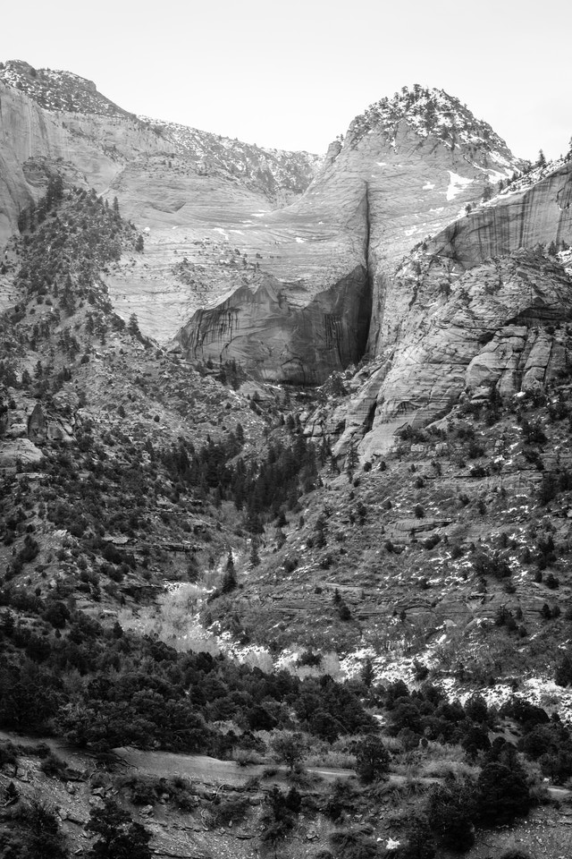 A close-up of Slickrock Pass in Kolob Canyons.