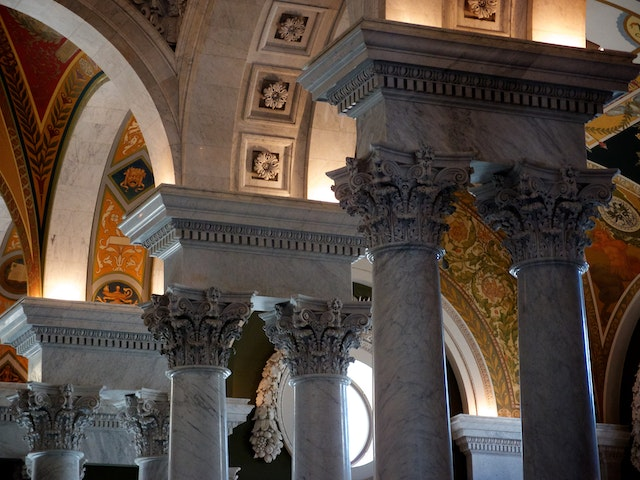 Columns at the Library of Congress.