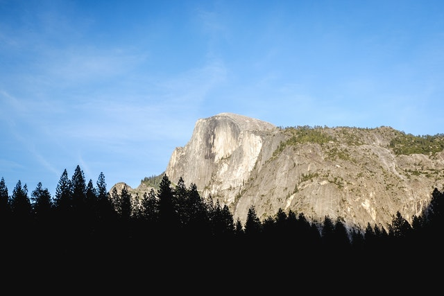 Half Dome at the golden hour.