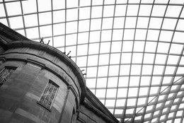 The roof of the Kogod Courtyard at the National Portrait Gallery in DC.