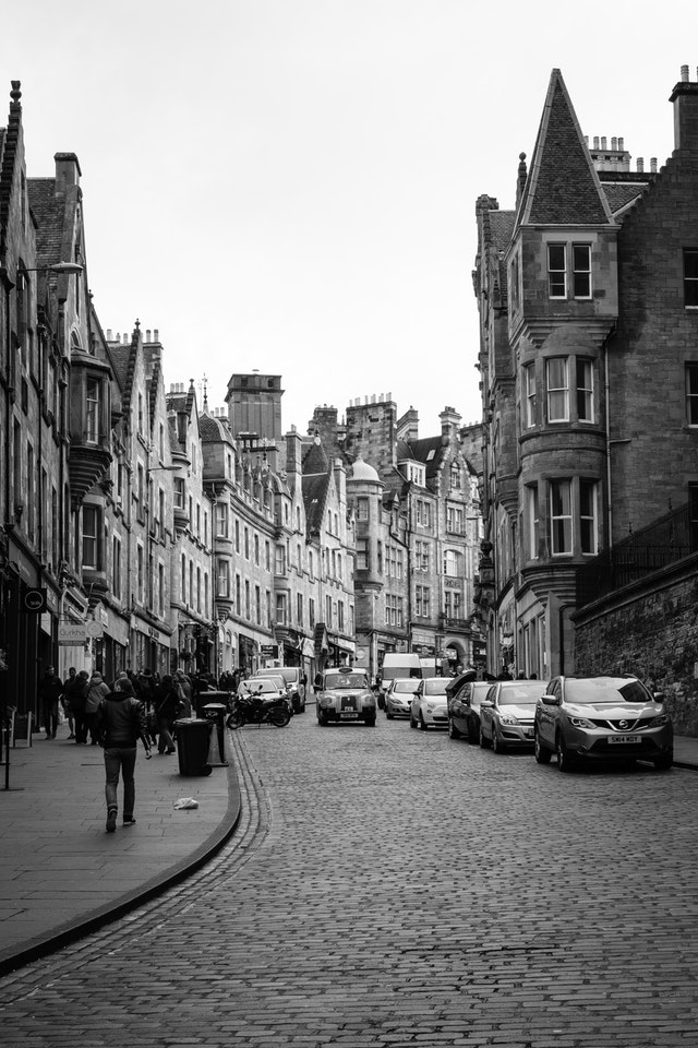 Cockburn Street, in Edinburgh.