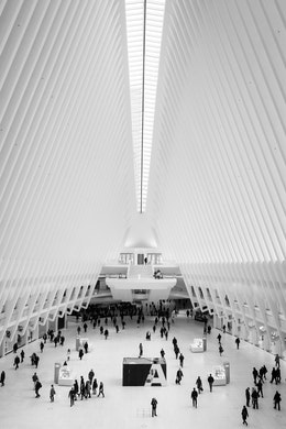 The interior of the Oculus.