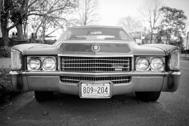 A classic Cadillac on Capitol Hill.
