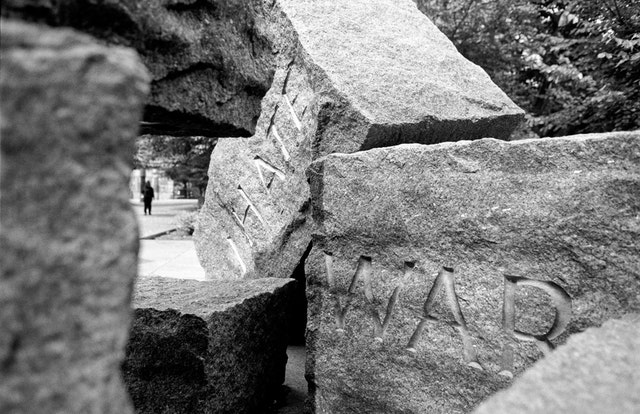 "The ""I Hate War"" stones at the Franklin D. Roosevelt Memorial, Washington, DC."