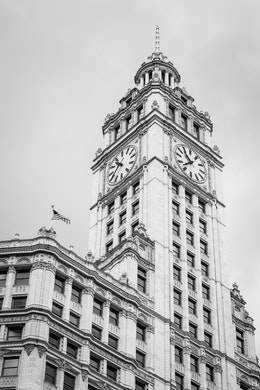 The Wrigley Building in Chicago.