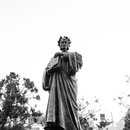 The statue of Dante Alighieri at Meridian Hill Park in Washington, DC.