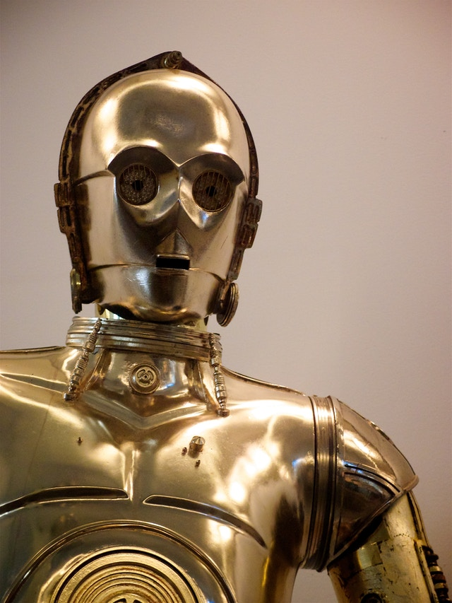 Threepio at the National Museum of American History, in Washington, DC.