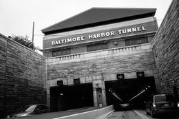 The Baltimore Harbor Tunnel.