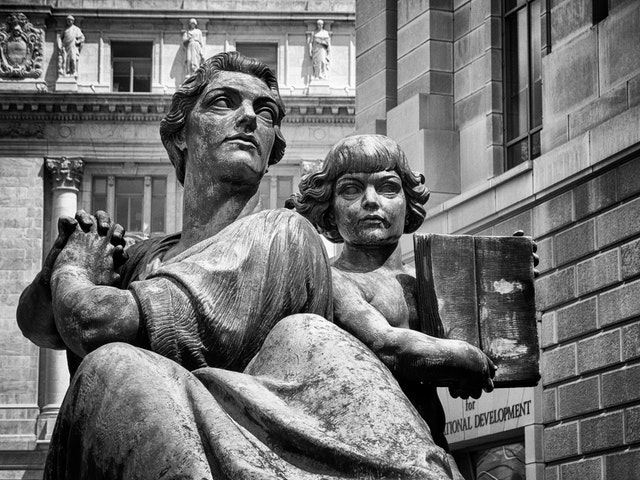 Justice, at the Oscar Straus Memorial outside the Ronald Reagan Building and International Trade Center.