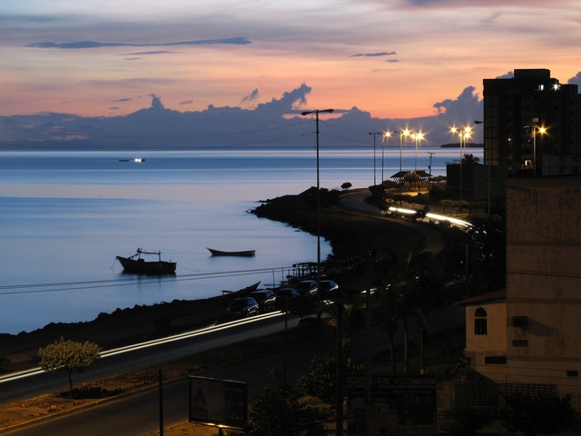 View of the Avenida Perimetral in Cumaná, Venezuela, at dawn.