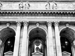 Facade of the New York Public Library.