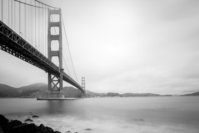 The Golden Gate Bridge from Fort Point.
