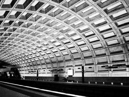 Smithsonian Metro Station.